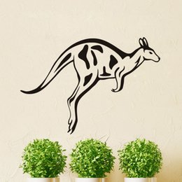 Wholesale Baby Decals For Nursery - Cute Jumping Kangaroo Wall Stickers for Kids Room Baby Nursery Wall Decals Vinyl Wall Tattoo