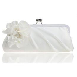 Wholesale Three Dimensional Lace - Wholesale- hot 3D Flower Silk Elegant Evening Bag Ladies Three-dimensional Flower Satin,Bridal Wedding Purse Party Messenger Clutch WY38