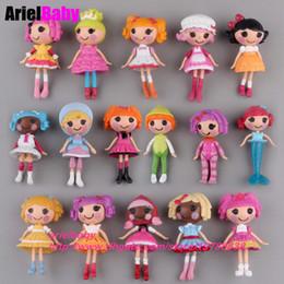 Bonecas para bolos on-line-Presente de aniversário New 8PCS Lalaloopsy Brinquedos Action Figure Mini Dolls Playhouse Baby Girl crianças de 8 cm Cake Toppers Mix Tipo