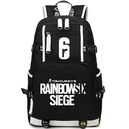 Wholesale Play Day - Rainbow six backpack Shoot play daypack Siege 6 schoolbag Game rucksack Sport school bag Outdoor day pack