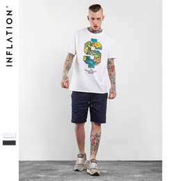 Wholesale Flower Illustrations - MEN shirts for Promotion Men's 2018 fashion spring and summer new exquisite flower illustrations men's T-shirt