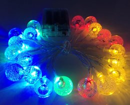 Wholesale Bubble Tree Lights - 20LED 2M Crystal Ball Globe Bubble String Lamp Lights RGB Warm White String for Decoration Fairy Garden Party Wedding Home Christmas Gifts