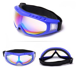 Wholesale Cheap Riding Goggles - Cheap Cycling Eyewear goggles Sports Outdoors Ski goggles mirror glasses outdoor riding a motorcycle goggles 1244