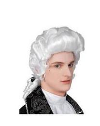 Perucas barrocas on-line-perruque senhoras lady perucas de cabelo peluca sexy alta qualidade japão fantasia branco longo encaracolado peruca cosplay homem barroco fibra sintética