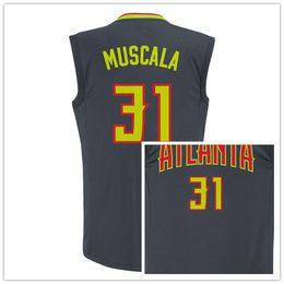Wholesale Quick Screens - 2017 Cheap Screen Printed 31 Mike Muscala Black Classics Swingman Jersey #31 Mike Muscala Basketball Jersey Jerseys SIZE S M L XL XXXL