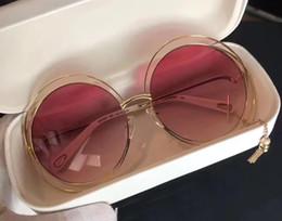 ce occhiali da sole Sconti Donne CARLINA CE 138S Oro Trasparente Occhiali da sole rosa 62mm Moda Occhiali da sole di marca Occhiali da sole firmati con scatola nuova