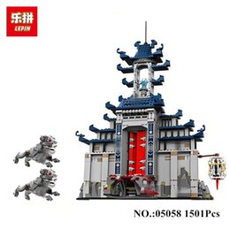 Wholesale Diy Weapon - In Stock DHL lepin 06058 1501pcs Movie Temple of The Ultimate Weapon Building Blocks bricks DIY baby Toys children Gift 70617