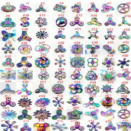 Wholesale High quality new Rainbow metal Fidget Spinners Hand Spinners Finger EDC Toys Spins Spiral Gyro EDC Fidget With Box