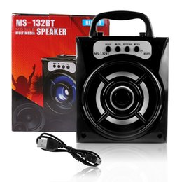 Wholesale Outdoor Center - LED Mobile Multimedia Wireless Bluetooth Portable Speaker with USB TF AUX FM Radio MS-132BT Outdoor Super Bass for Android Apple