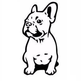 Wholesale Bulldog Vinyl - 7.5*15.2CM FRENCH BULLDOG Dog Pet Breed Vinyl Decal Funny Animal Car Sticker Jdm