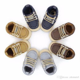 Wholesale Infant High Tops - Baby Soft Bottom High-top Casual Strap Shoes Anti-slip Infant Prewalker Boy Girl Toddler Baby Winter Shoes 0-18M