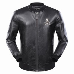 Wholesale Leather Stylish Winter Jacket - Fall-Motorcycle winter special process machine super stylish PU leather jackets coat fashion zipper long sleeve outerwear