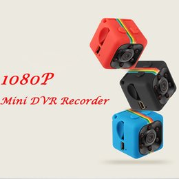 Wholesale Micro Digital Voice Recorders - SQ11 HD 1080p Mini Camera Digital Camcorder Infrared Night Motion Detection Micro Cam 360 Degree Rotation Voice Video Recorder