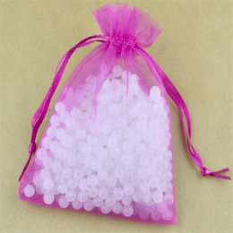 Wholesale Pink Organza Wedding Favour - Wholesale-Hot Pink Organza Bag 17x23cm 500 Piece Jewelry Gift Packaging Pouch Wedding Decoration Favour Christmas Gift Drawstring Bags