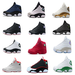 Wholesale Cat Army Green - new mens basketball shoes 13 black cat Hyper Royal olive Wheat GS Bordeaux DMP Chicago men women 13s sports Sneaker Shoes 40-47