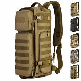 Wholesale Sling Rucksack - Men Chest Sling Back pack Men's Bags One Single Shoulder Man Large Travel Back packs Molle Bags Outdoors Rucksack
