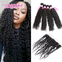 Wholesale Queen Deep Wave - Peruvian Virgin Hair Ear to Ear Closure With 4 Bundles Natural Beauty Queen Hair Extensions Good Quality Best Selling Online