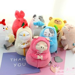 "Wholesale Wholesale Stuffed Chicks - EMS New 8 Styles 7"" 18CM Zoo Anime Collectible Bunny Rabbit Bear Pig Chick Plush Dolls Stuffed Best Gifts For Children Soft Toys"