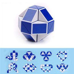 Wholesale Mini Rubik Cubes - Creative Magic Mini 24 Parts Blue Snake Magic 3D Rubik Twist Brain Cube Puzzle Kids Game Toy