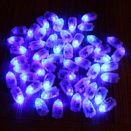 50pcs / lot Blue LED Lamps Balloon Lights per Lanterna di carta Balloon Bianco o Multicolor Christmas Party Decoration natale da