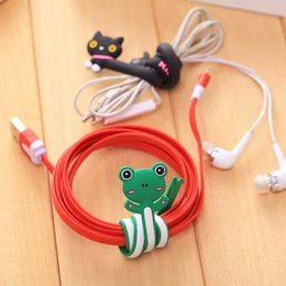 Wholesale Cable Markers - Hot Items Portable Mobile Phone Accessories Fashion Q Edition Lovely Animal Series Long Winding Wire Marker Reel Data Cable Headset Line Hub