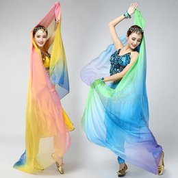 Wholesale Bollywood Top - Top Sale Belly Dance Veil Women Stage Performance Props Bollywood Dancewear Bellydance Shawl Scarf Accessories UA0241