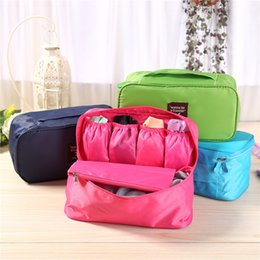 Wholesale Underwear Travel Organizer - New Multi-function oxford cloth Waterproof Portable Underwear Bras Organizer Bag Toiletry bag Travel Storage bag IA687