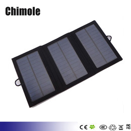 Wholesale Solar Charger Emergency Power Cell - 5V 6W Portable solar charging panels Outdoor travel emergency solar power mobile phone Gps solar charger