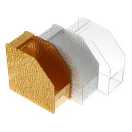 nagelformen Rabatt Silber / Transparent / Gold Mode Acryl Nail Art Form Dispenser Halter einzelne Formen leicht zu wählen