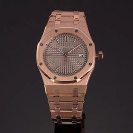 Wholesale Ladies Rose Gold Chronograph Watch - Top AAA Luxury Brand watches women black dial Stainless steel Royal Oak rose gold lady Watches quartz movement watch women WristWatch