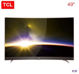 Wholesale Curved Metal - TCL 49 inch gold Curved surface Conchs Sound sound 8.7mm metal narrow frame 2K intelligent surface TV hot new product free shipping