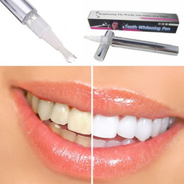 Wholesale Wholesale Stain Pens - White Teeth Whitening Pen Tooth Gel Whitener Bleach Remove Stains Oral Hygiene Gel Soft Brush Applicator For Tooth OOA2133