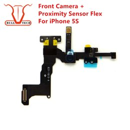 Wholesale Iphone 5s Lighting Cable - Original Front Small Camera For iPhone 5S Facetime Facing Proximity Sensor Light Motion Flex Cable Replacement Cam Parts for iphone 5s