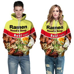 Wholesale 3d Digital Sweatshirt - Beef noodles 3D hoodies for men digital printing suprem hoodie sweatshirts plus size hoodies for women mens sweat suits Couple sweater XXL