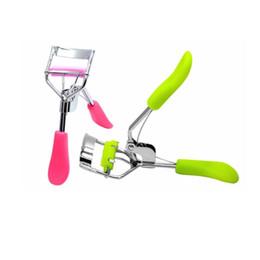Wholesale Clip Curls - Fashion Pro Handle Eye Curling Eyelashes Eye Lashes Curler Clip Beauty Makeup Make Up Eyelash Curler Curling Lashes Tool