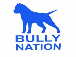 Wholesale Factory Vinyl - Factory outlets American Bully Nation Pit Bull Sticker for Car Window Truck Bumper SUV Door Vinyl Decal Car Decor Bull Terrier JDM