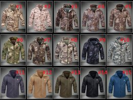 Wholesale Camo Camp Coats - Lurker Shark Skin Sunscreen breathable Tactical Jacket Men Waterproof Windproof Warm Coat Camouflage Hooded Camo Army Clothing M731
