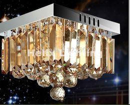 Envío gratis nuevamente cuadrado LED lámpara de techo de cristal 3W accesorio Champagne luz de techo lámpara de iluminación montaje empotrado garantizado 100% desde fabricantes