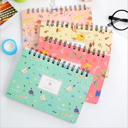 Wholesale Schedule Book - Wholesale- Vintage Flower Cartoon Bird Weekly Planner Daily Schedule Book Notebook Diary Book Scratch Notepad Escolar Papelaria Stationery