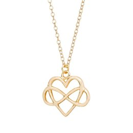 Wholesale New European Style Statement Necklace - New Style Simple Fashion Pendant Necklace Love Necklace European And American Jewelry Statement Necklace CSH- 966