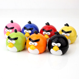Wholesale Usb Flash Drive Cute - Wholesale- Portable MP3 Player TF Card Slot electronic products Cute colorful bird MP3 music (MP3 only) you can use a USB flash drive