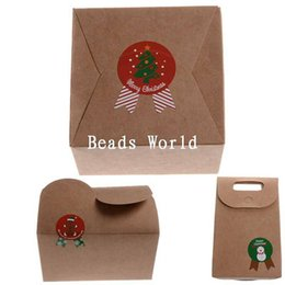 Wholesale Christmas Envelope Stickers - Wholesale- Real New Material Manualidades 80 Pcs Paper Labels Envelopes Box Seals Sticker Christmas Cartoon Badge 47x36mm(w05660 X 1)