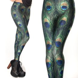 Wholesale Novelty Leggings - Wholesale- 3D Printed Leggings Peacock Women Legging Womens Leggings Jeggings FitnessLegings Sexy Legging Pants
