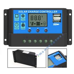 Wholesale Intelligent Solar Charge Controller - 10A 20A 30A Solar Controller 12V 24V Solar Battery Voltage Intelligent Charge Regulator USB Port 5V Light Timer Control LCD Display