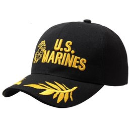 Wholesale Marines Hats - Wholesale- 2016 Tactical Marines Cap Mens Baseball Cap USA Army Black Water Hat Snapback Caps For Adjustable Navy Seal High Quality