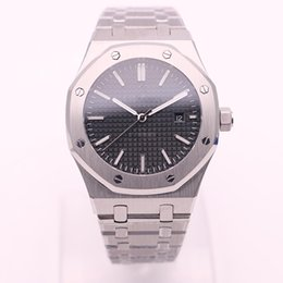 Wholesale Dhgate New - DHgate selected supplier jason007 luxury brand watches men 42mm black dial steel watch royal oak automatic see through watch mens watches