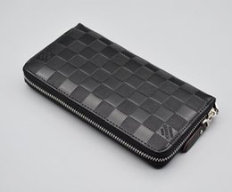 Wholesale diagonal zipper - Welcome to order new fashion women's wallets 20 * 10.5 * 2.5cm diagonal header layer of leather zipper long wallet Free Shipping