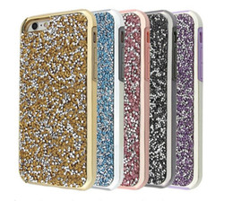 Wholesale Premium Diamonds - Premium bling glitter case 2 in 1 Luxury diamond rhinestone glitter back cover phone case For iphone x 7 5 6 6s plus Samsung s8 note 8 s9