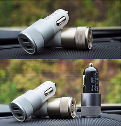 Carregador de carro dual usb branco on-line-Moda 12 v 24 v 2.1A 1.0A Alumínio duplo usb 2-port USB Universal Car Charger Adapter para telefone Usb Normal