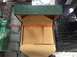 Wholesale Paper Wallets - Luxury Watch Wristwatch Boxes Green With Original Watch Box Papers Card Wallet Boxes &Cases Luxury Watches